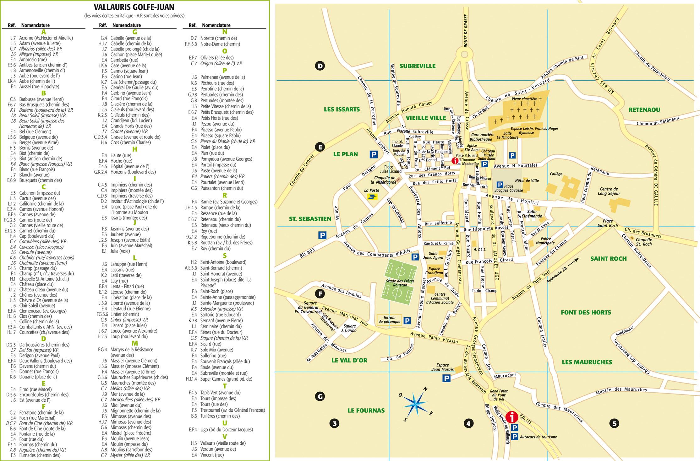 Plan De La Ville D Antibes